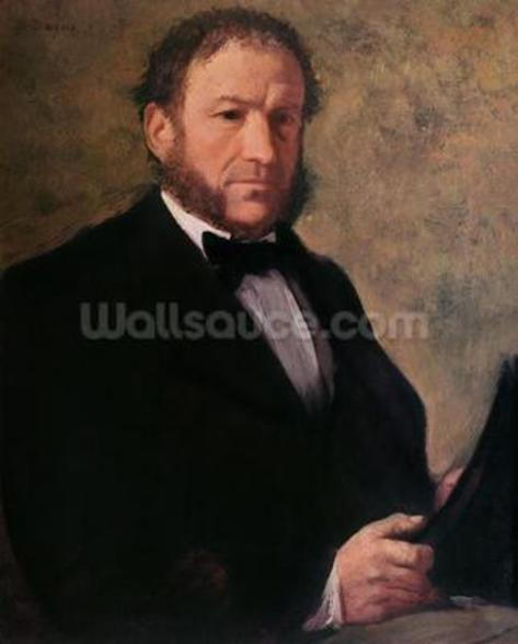 Portrait of Monsieur Ruelle, 1861 (oil on canvas) wall mural