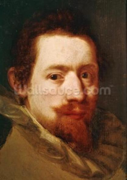 Portrait of Peeter Snayers, c.1626 (oil on canvas) wall mural