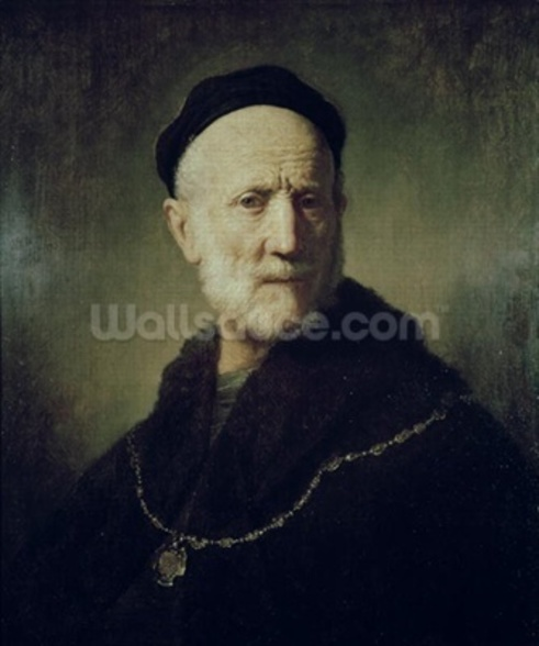 Portrait of Rembrandts Father wallpaper mural