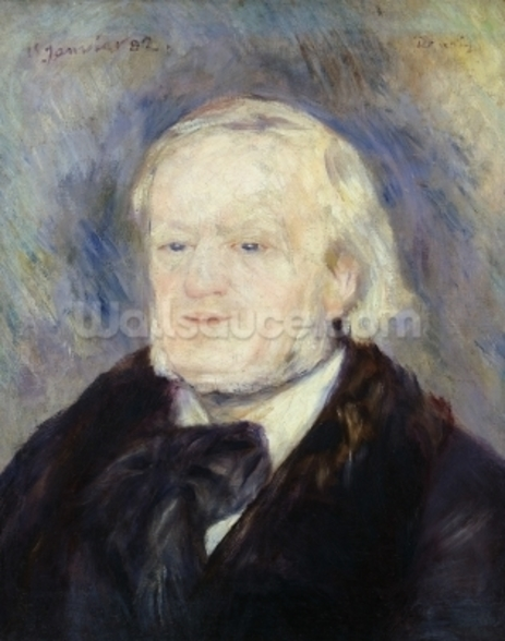 Portrait of Richard Wagner (1813-83) 1882 (oil on canvas) wall mural