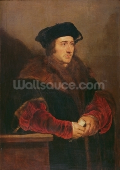 Portrait of Sir Thomas More (oil on canvas) wall mural