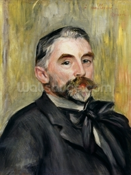 Portrait of Stephane Mallarme (1842-98) 1892 (oil on canvas) wallpaper mural