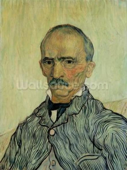 Portrait of Superintendant Trabuc in St. Pauls Hospital, 1889 (oil on canvas) mural wallpaper
