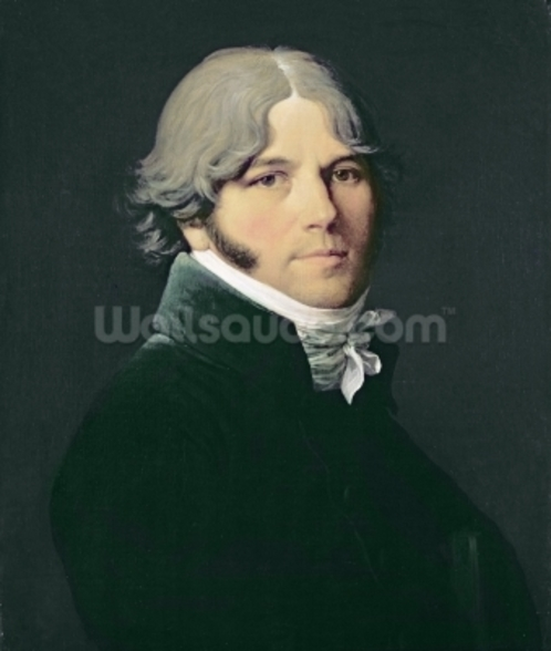 Portrait of the Artists Father, 1804 (oil on canvas) wallpaper mural