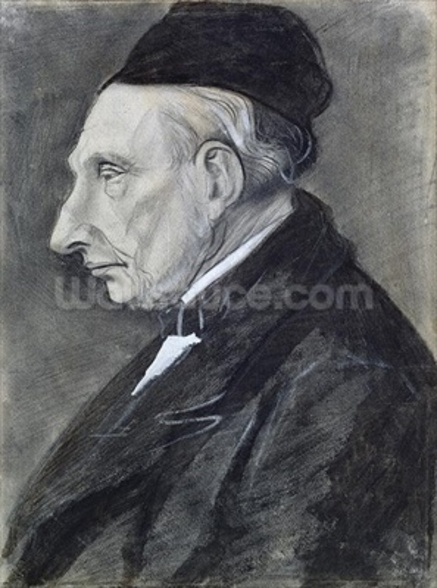 Portrait of the Artists Grandfather, 1881 (charcoal on paper) wall mural