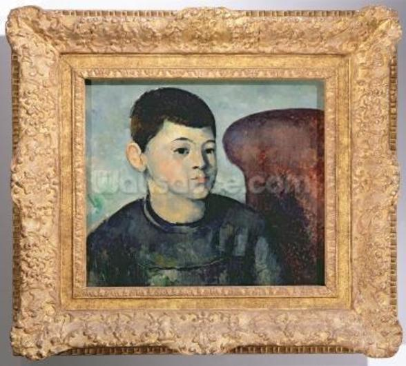 Portrait of the artists son, 1881-82 (oil on canvas) wall mural