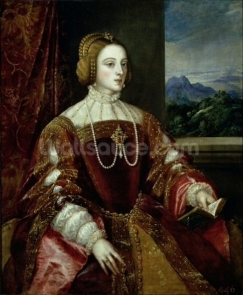 Portrait of the Empress Isabella of Portugal, 1548 wallpaper mural