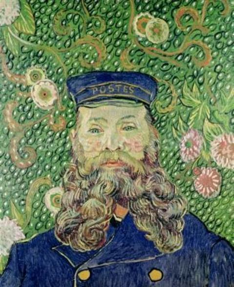 Portrait of the Postman Joseph Roulin, 1889 (oil on canvas) wallpaper mural