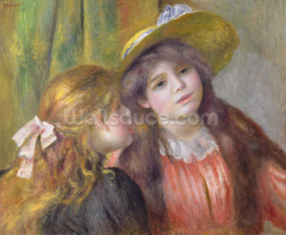 Portrait of Two Girls, c.1890-92 (oil on canvas) wall mural