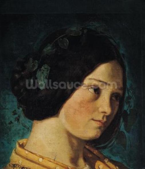 Portrait of Zelie Courbet, c.1842 (oil on canvas) wall mural