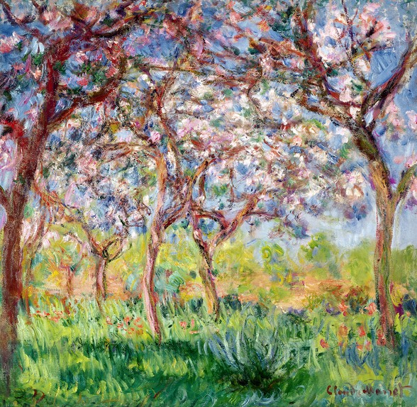 Printemps a Giverny, 1903 (oil on canvas) wall mural