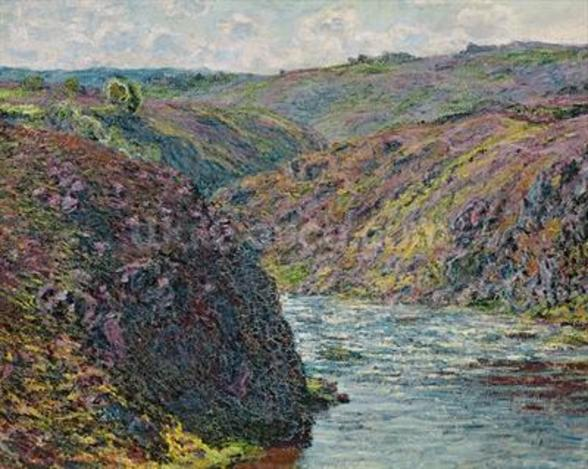 Ravines of the Creuse at the End of the Day, 1889 (oil on canvas) mural wallpaper