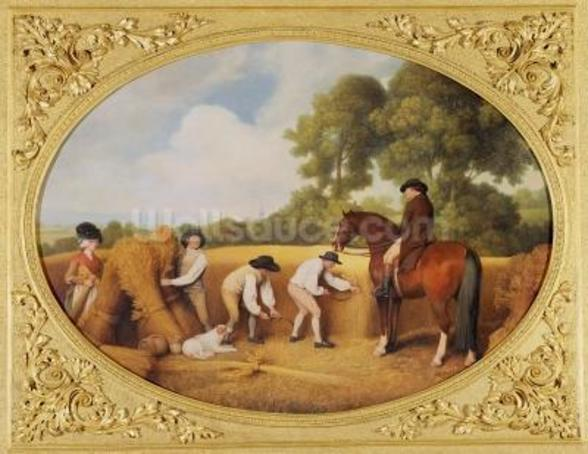 Reapers, 1795 (enamel on Wedgwood biscuit earthenware) wall mural