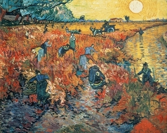 Red Vineyards at Arles, 1888 (oil on canvas) mural wallpaper
