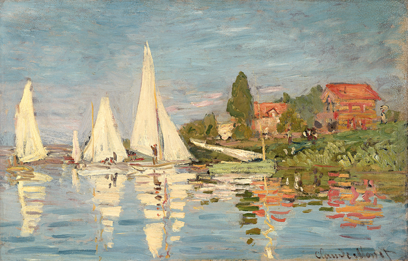 Regatta at Argenteuil, c.1872 (oil on canvas) wallpaper mural