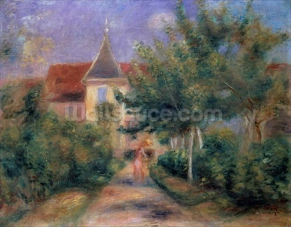 Renoirs house at Essoyes, 1906 (oil on canvas), mural wallpaper