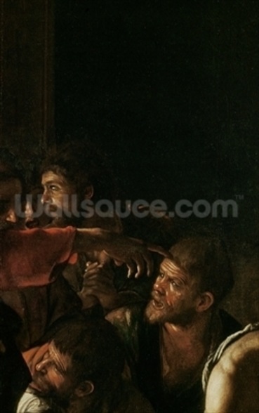 Resurrection of Lazarus (oil on canvas) (detail of 238777) mural wallpaper