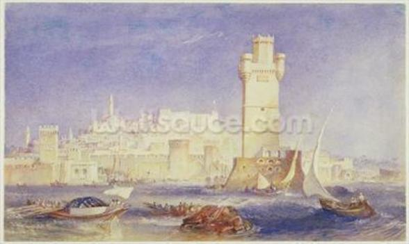 Rhodes, c.1823-24 (w/c & bodycolour on paper) wall mural
