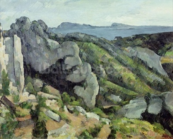 Rocks at LEstaque, 1879-82 (oil on canvas) wallpaper mural