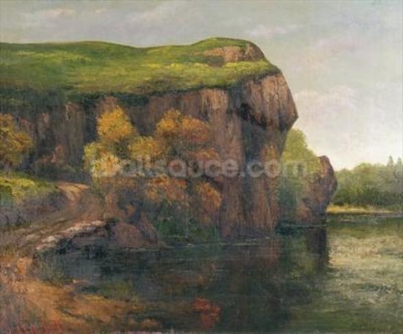 Rocky Cliffs (oil on canvas) wall mural