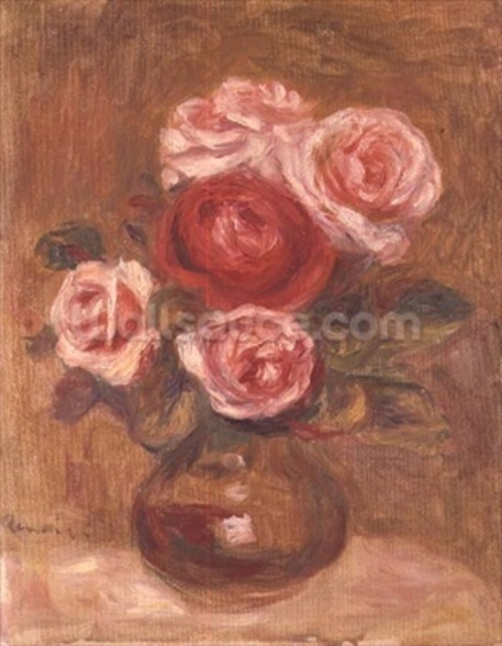 Roses in a pot wall mural