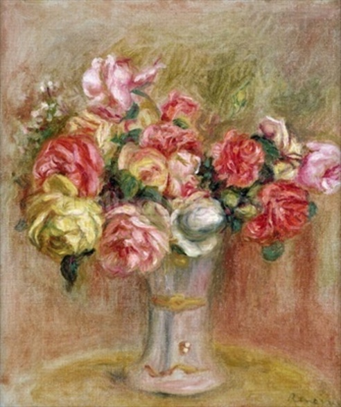 Roses in a Sevres vase wall mural