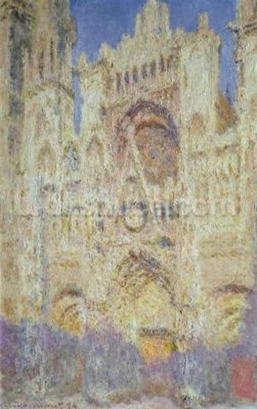 Rouen Cathedral at Sunset, 1894 wall mural