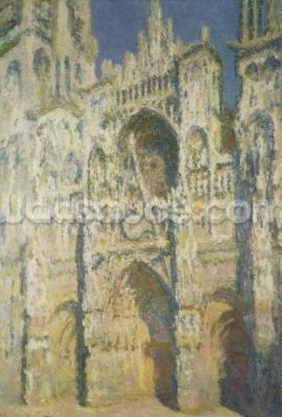 Rouen Cathedral in Full Sunlight: Harmony in Blue and Gold, 1894 wall mural