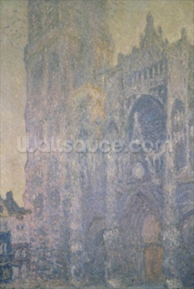 Rouen Cathedral, Harmony in White, Morning Light, 1894 (oil on canvas) wallpaper mural