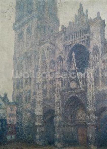 Rouen Cathedral, West Portal, Grey Weather, 1894 (oil on canvas) wall mural