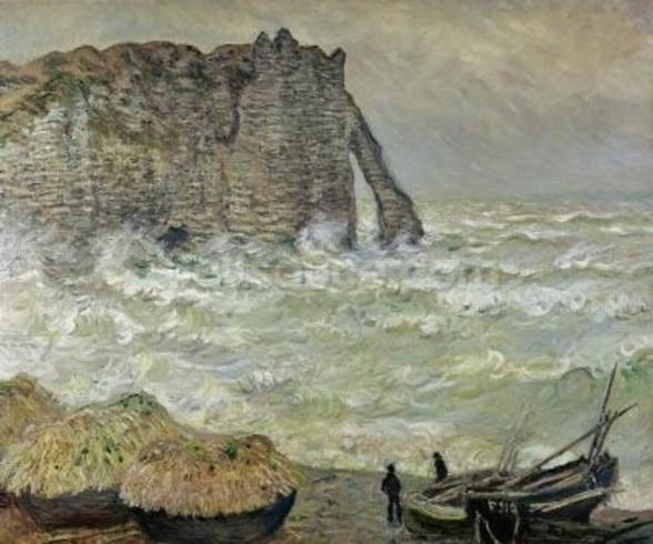 Rough Sea at Etretat, 1883 (oil on canvas) wall mural