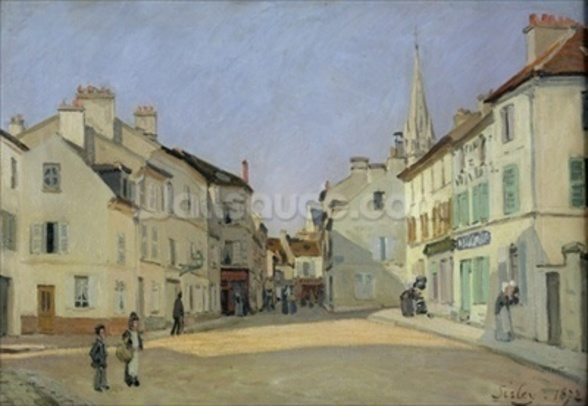 Rue de la Chaussee at Argenteuil, 1872 (oil on canvas) mural wallpaper