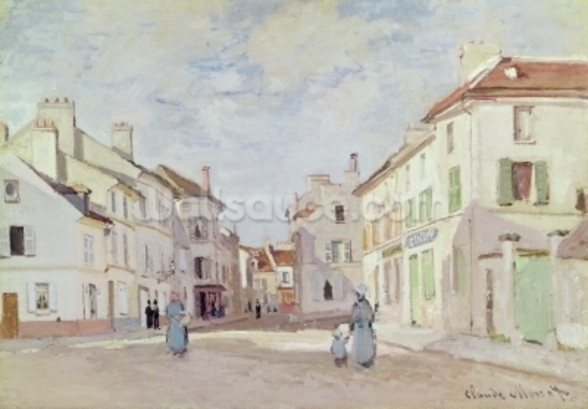 Rue de la Chaussee at Argenteuil (oil on canvas) wall mural