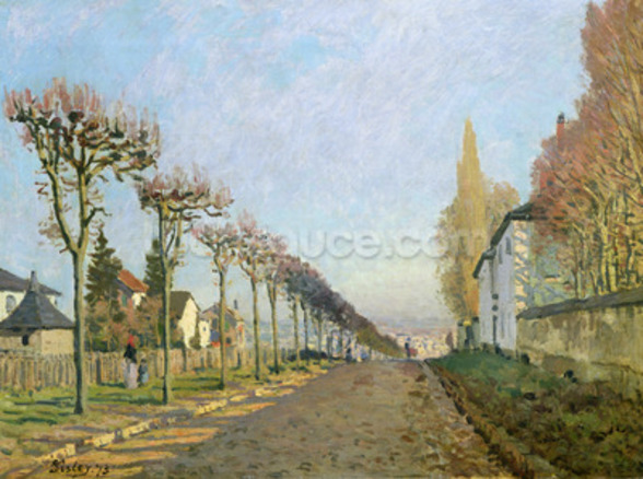 Rue de la Machine, Louveciennes, 1873 (oil on canvas) wallpaper mural