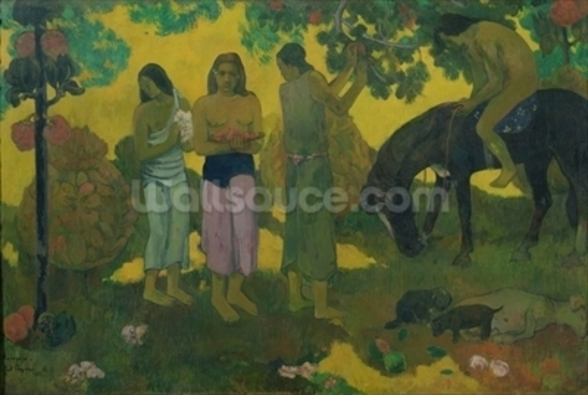 Rupe Rupe (Fruit Gathering), 1899 (oil on canvas) mural wallpaper