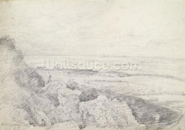 Salisbury Plain from Old Sarum, 1829 (graphite on paper) wall mural