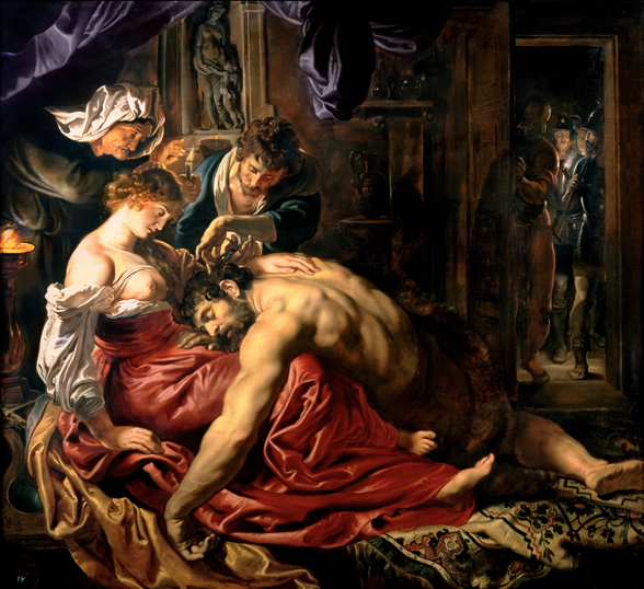 Samson and Delilah, c.1609 (oil on panel) wall mural