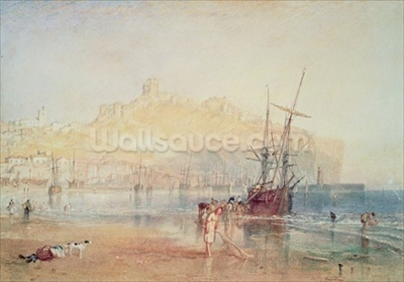 Scarborough, 1825 (watercolour) mural wallpaper