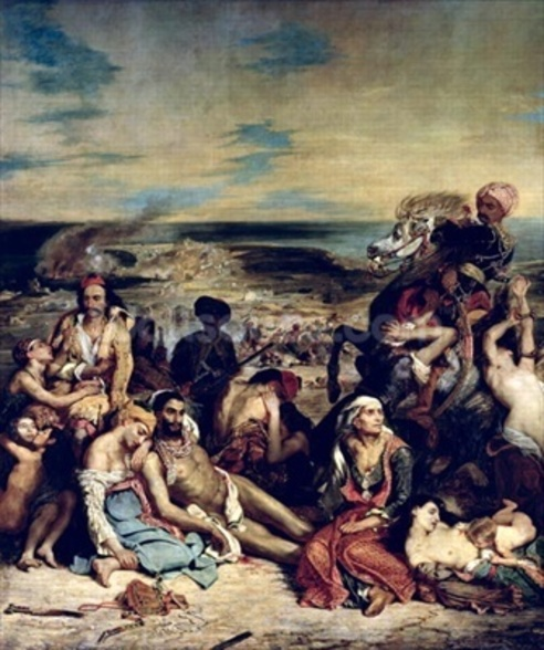 Scenes from the Massacre of Chios, 1822 (oil on canvas) wall mural
