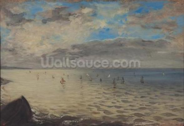 Sea Viewed from the Heights of Dieppe (oil on canvas) wall mural