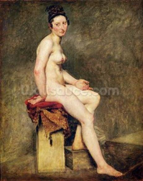 Seated Nude, Mademoiselle Rose (oil on canvas) wallpaper mural