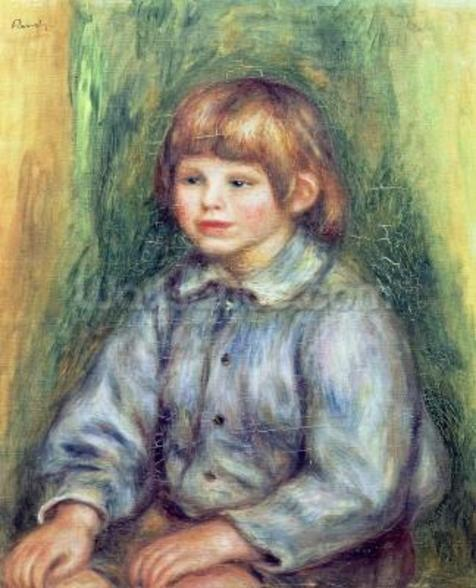 Seated Portrait of Claude Renoir (1901-81) 1905-08 (oil on canvas) wall mural