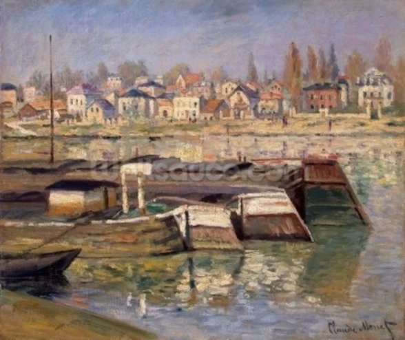 Seine at Asnieres, 1873 (oil on canvas) wall mural