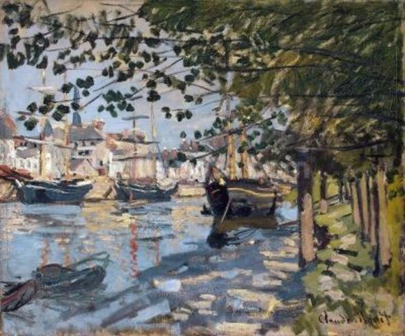 Seine at Rouen, 1872 (oil on canvas) mural wallpaper
