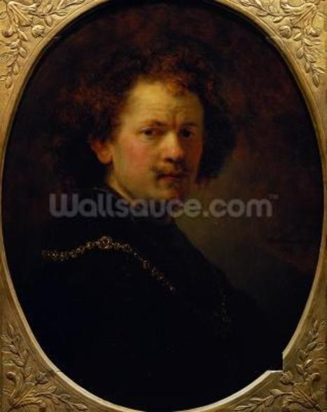Self Portrait, 1633 (oil on panel) wall mural