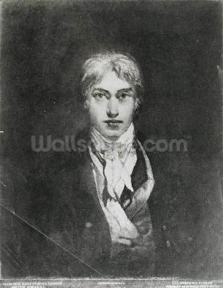 Self portrait, 1798 (oil on canvas) (b/w photo) wall mural