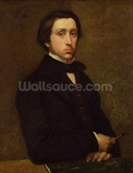 Self portrait, 1855 (oil on canvas) wall mural