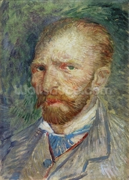 Self Portrait, 1887 (oil on paper) wall mural