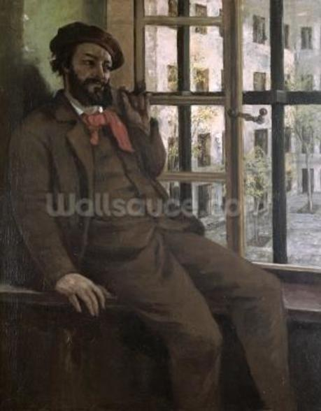 Self Portrait at Sainte-Pelagie, 1871 (oil on canvas) wall mural