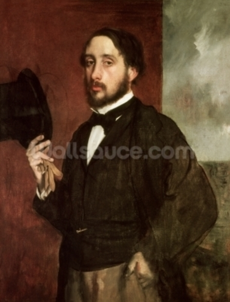 Self portrait, c.1862 (oil on canvas) wall mural
